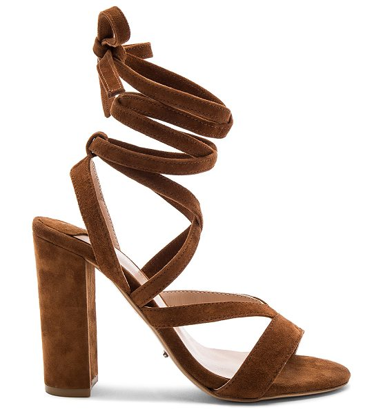 "TONY BIANCO Kappa Heel in cognac - ""Suede upper with man made sole. Lace-up front with wrap..."