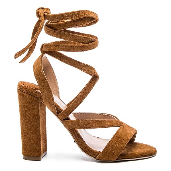 Tony Bianco Kappa heel in tan - Suede upper with man made sole. Lace-up front with wrap...