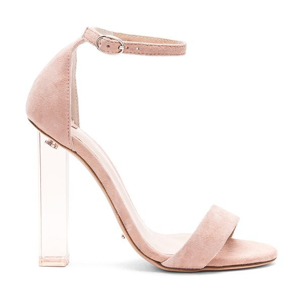 "Tony Bianco Kashmir Heel in blush - ""Suede upper with man made sole. Ankle strap with buckle..."