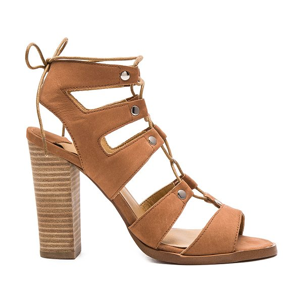 Tony Bianco Kelso heel in tan - Leather upper with man made sole. Lace-up front with tie...