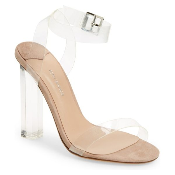Tony Bianco kiki sandal in clear vynalite/ blush - A transparent heel and straps add plenty of modern flair...