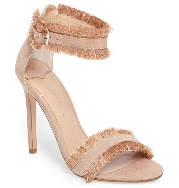 Tony Bianco kimi fringed strappy sandal in blush suede