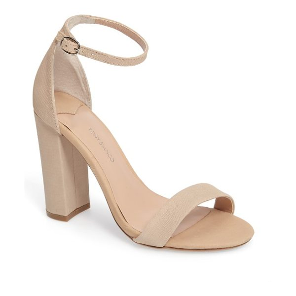 Tony Bianco kokomo strappy sandal in skin berlin - Barely there toe and ankle straps crafted from textured...