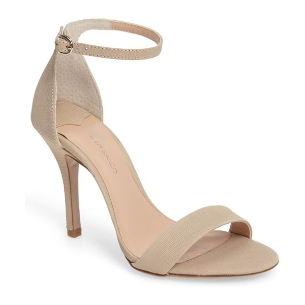 Tony Bianco lovinia strappy sandal in skin berlin - Barely there straps at the toe and ankle add flirty...