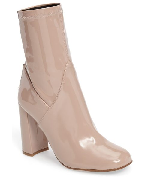 Tony Bianco nakita zip bootie in nude - A trend-right profile and retro-mod shine give...