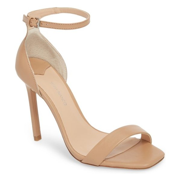 Tony Bianco sacha ankle strap sandal in skin leather - A sky-high stiletto elevates a leg-lengthening sandal...