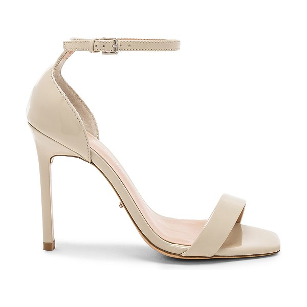 """Tony Bianco Sacha Heel in beige - """"Patent leather upper with man made sole. Ankle strap..."""