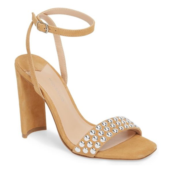 Tony Bianco sebastian sandal in caramel suede - Impossibly shiny studs add polish and texture to the...