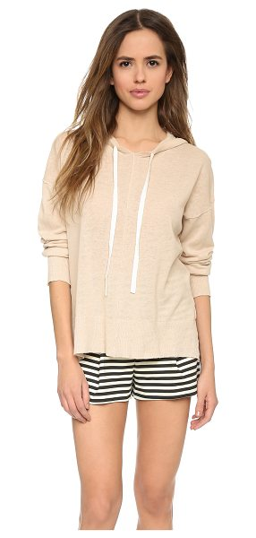 Top Secret Horizon hoodie in sand/white - Inside out seams bring a deconstructed look to this Top...