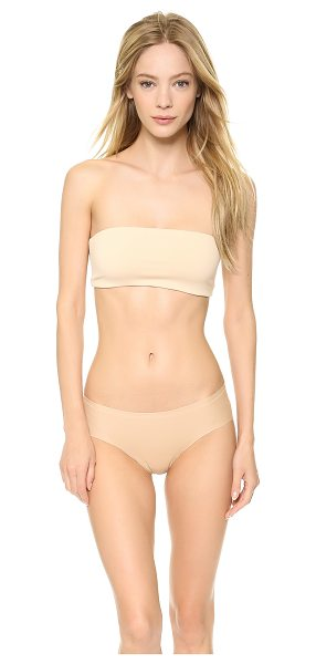 Top Secret tiny tube bandeau in nude - This jersey bandeau features covered elastic banding at...