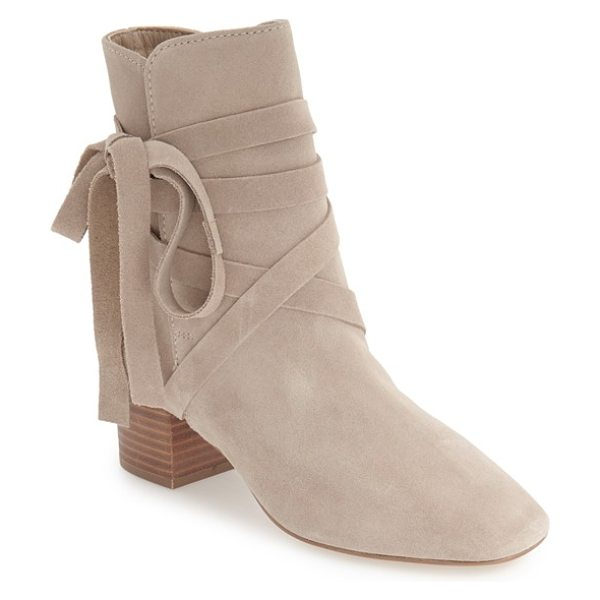 Topshop 'anabel' lace-up boots in stone - Slim suede laces wrap around the ankle of a chic bootie...