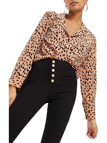 TOPSHOP animal print satin top - Pajama-inspired design keeps the silhouette and attitude...