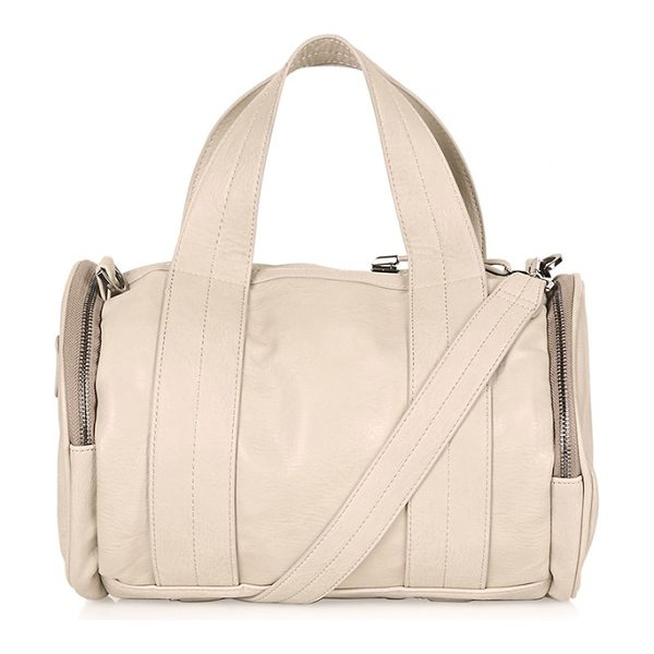 Topshop Billy sporty barrel holdall in stone