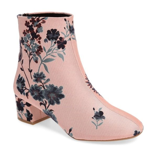 TOPSHOP blooming floral bootie in pink multi - This floral tapestry bootie tells tales of classy nights...