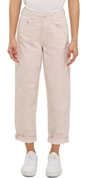 TOPSHOP Boutique boyfriend jeans in pink - Relaxed from the waist through the clean, straight leg,...