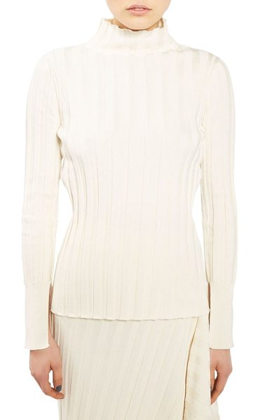 TOPSHOP Boutique funnel neck sweater in cream - Wide ribbing accentuates the chic slender fit of a...