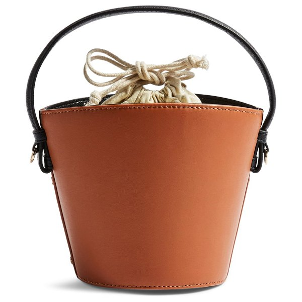 Topshop brandy bucket bag in brown - Full of trend-right charm, this essential bucket bag is...
