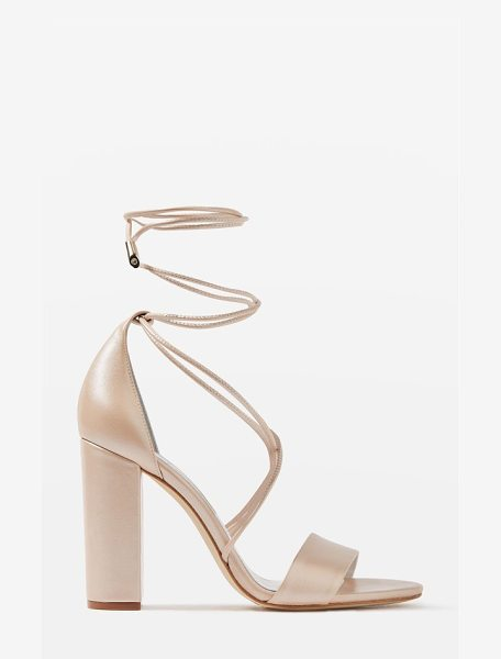 Topshop bride beatrix lace-up sandals in pink - Shimmery leather sandals offer a modern take on shoes...
