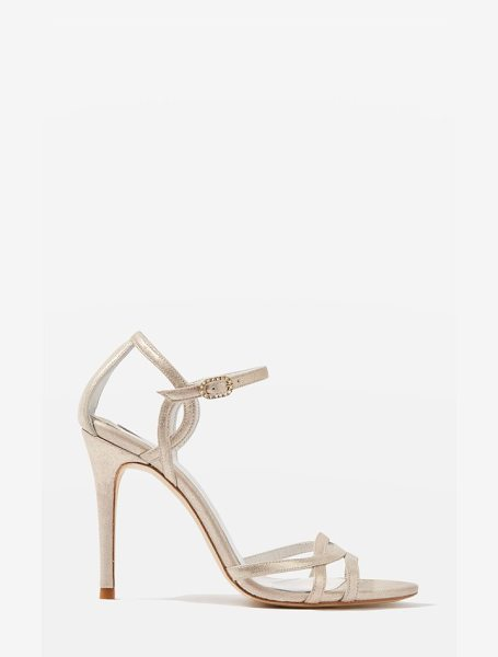 Topshop bride belle strappy sandals in gold - Curvy straps at the vamp and ankle add vintage-inspired...