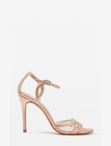 Topshop bride belle strappy sandals in pink - Curvy straps at the vamp and ankle add vintage-inspired...