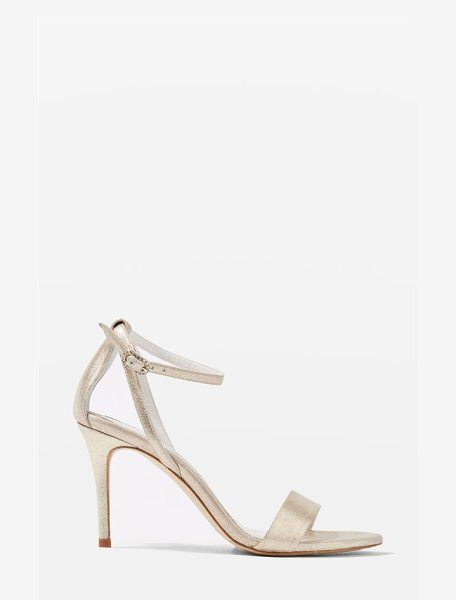 Topshop bride betsy ankle strap sandals in gold - Sleek ankle strap sandals in shimmery leather boast a...