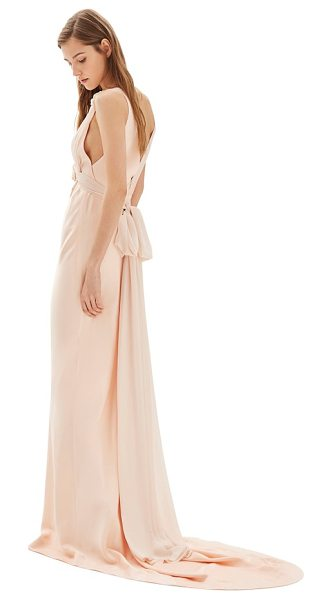 Topshop bride floral applique sheath gown in nude - Made from a luscious mix of satin and georgette, this...