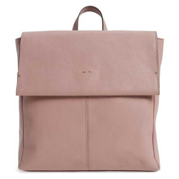 TOPSHOP premium leather calfskin backpack - Easily organize all of your essentials in a streamlined,...