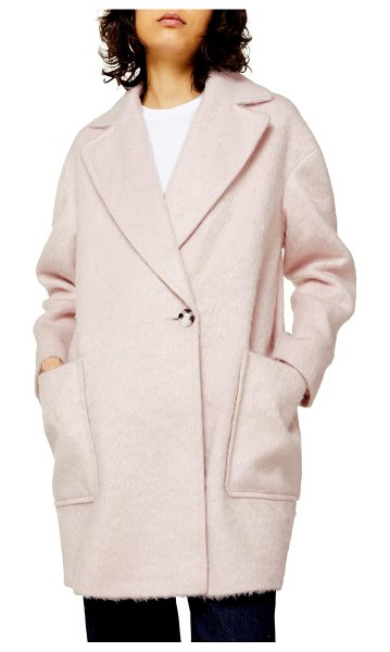 Topshop carly coat in pink