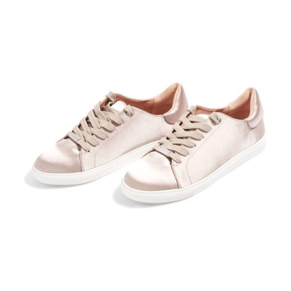 Topshop catseye sneaker in beige - A classic low-top sneaker with a padded collar makes a...