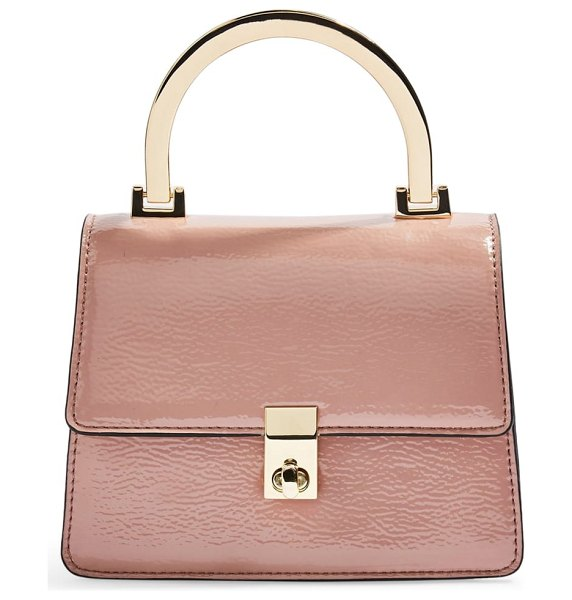 Topshop champagne shoulder bag in pink - A structured silhouette amplifies the vintage appeal of...
