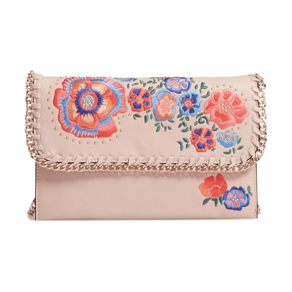 Topshop chester floral faux leather crossbody bag in beige multi - A soft, low-profile faux leather crossbody strikes...