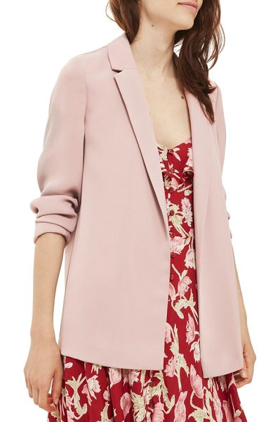 Topshop chuck on blazer in blush - Add a little sartorial swank to your look with this...