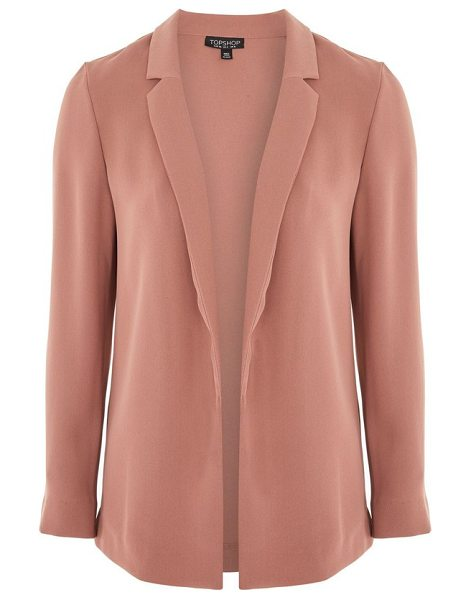 Topshop chuck on blazer in dark pink - Add a little sartorial swank to your look with this...