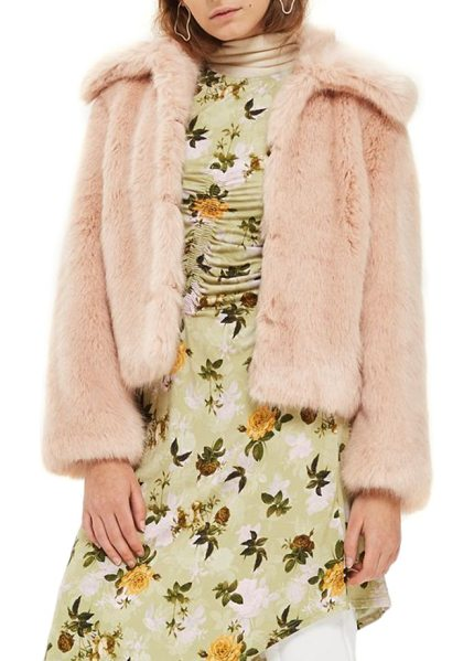 TOPSHOP claire faux fur coat - Look luxe even while running weekend errands in a boxy...