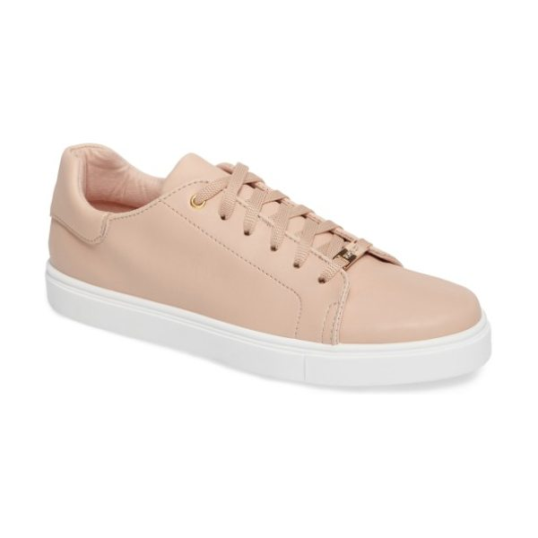 Topshop cluster sneaker in nude - Classic low-profile sneakers in smooth faux leather are...