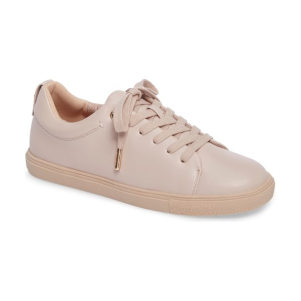 Topshop coffee sneaker in nude - Smooth faux leather in light, neutral hues and gleaming...