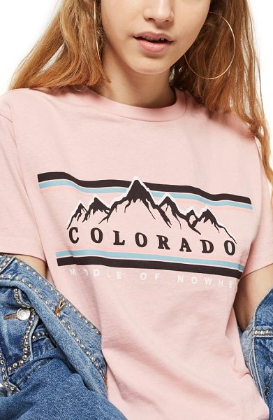 TOPSHOP colorado print t-shirt - Show your love for the Centennial State in this...