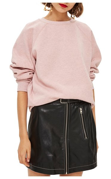 Topshop crewneck sweatshirt in pink - Raglan sleeves further the classic style of this...