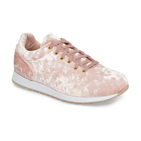 TOPSHOP croatia velvet sneaker - Old school-style sneakers are given the full on-trend...