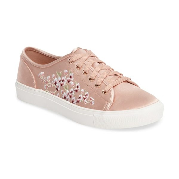 Topshop cupid embroidered sneaker in pink multi - Even when you're rocking the casual-cool look you can...