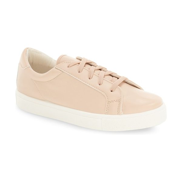 Topshop cyprus embossed sneaker in nude - A snake-embossed, faux-leather finish puts an edgy twist...