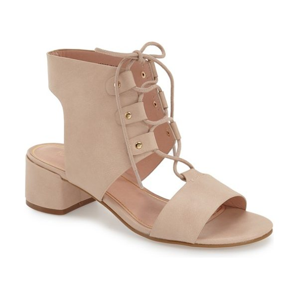Topshop dance ghillie sandal in nude - A bootie-inspired sandal with crisscrossed ghillie laces...