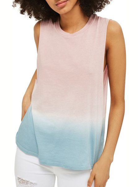 Topshop dip dye tank in pink multi - Two pastels come together like a light sunset on this...