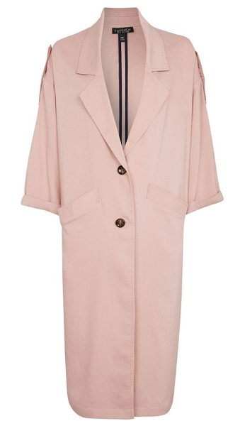 TOPSHOP duster coat in pink - Fit for an '80s lady-boss with its slouchy, oversized...