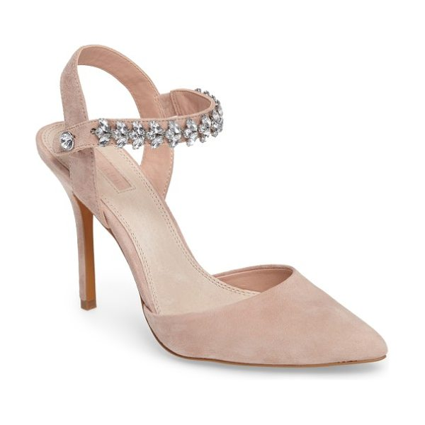 TOPSHOP embellished ankle strap pump - Bring the bling with a pointy-toe pump balanced on a...