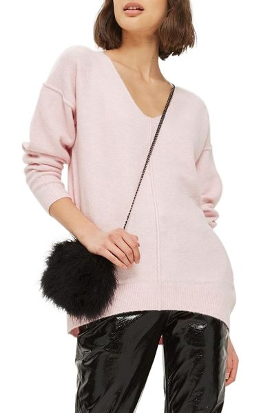 Topshop exposed seam longline sweater in pink - This supersoft and slouchy sweater is sewn with exposed...