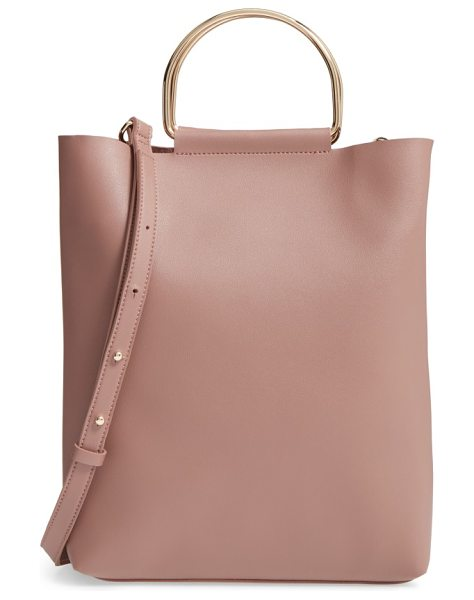 Topshop faux leather tote in blush - Roomy enough for your makeup bag and presentation notes,...