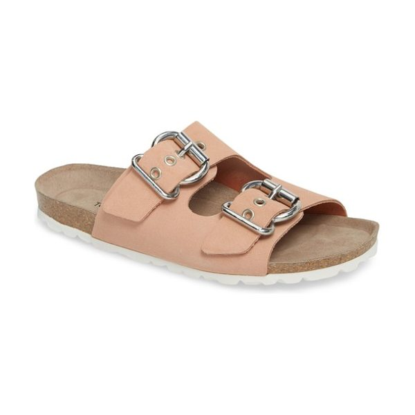 TOPSHOP finch buckle slide - Chunky hourglass buckles top a classic slide sandal made...