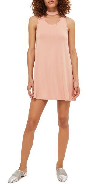 Topshop flippy choker tunic in blush