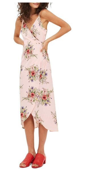 TOPSHOP floral wrap slipdress - A fluttery wrap design joins lush bouquets for true...
